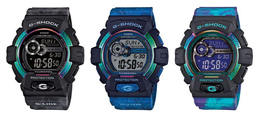 три расцветки новых G-SHOCK GLS-8900AR
