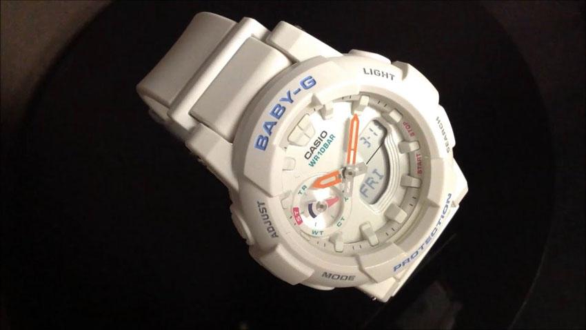 белые часы BABY-G BGA-185